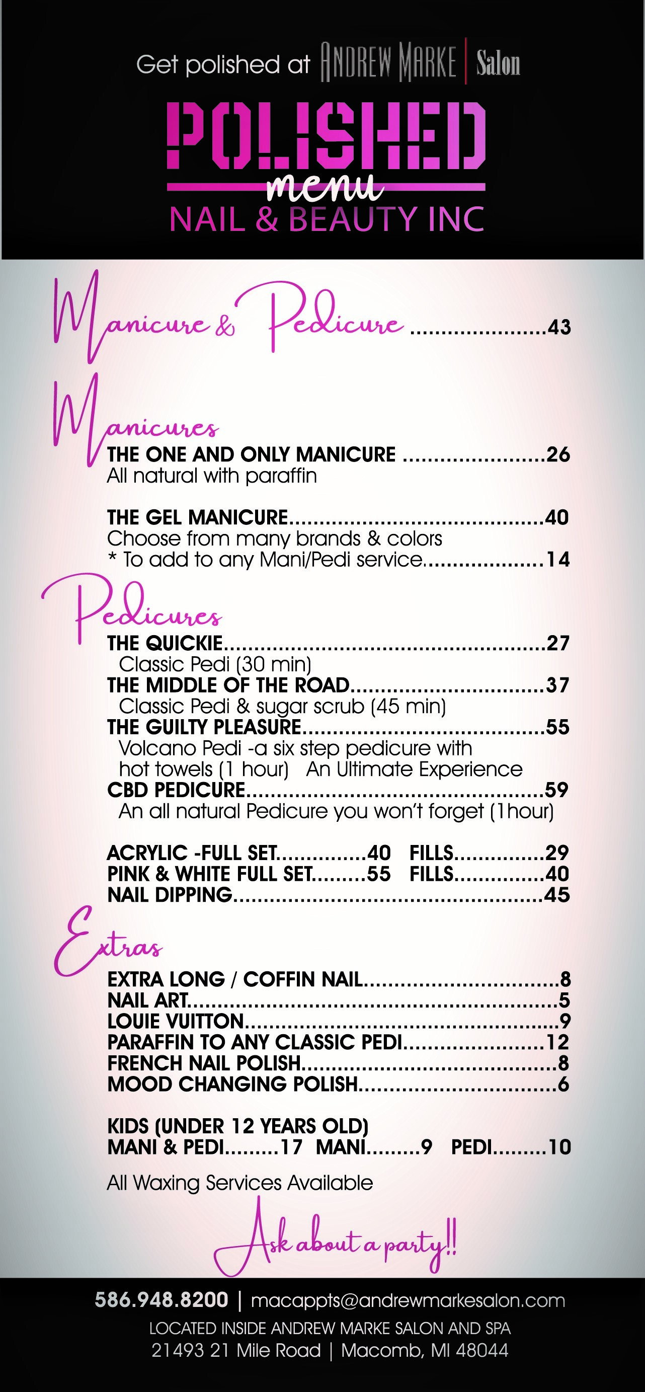 Polished Menu